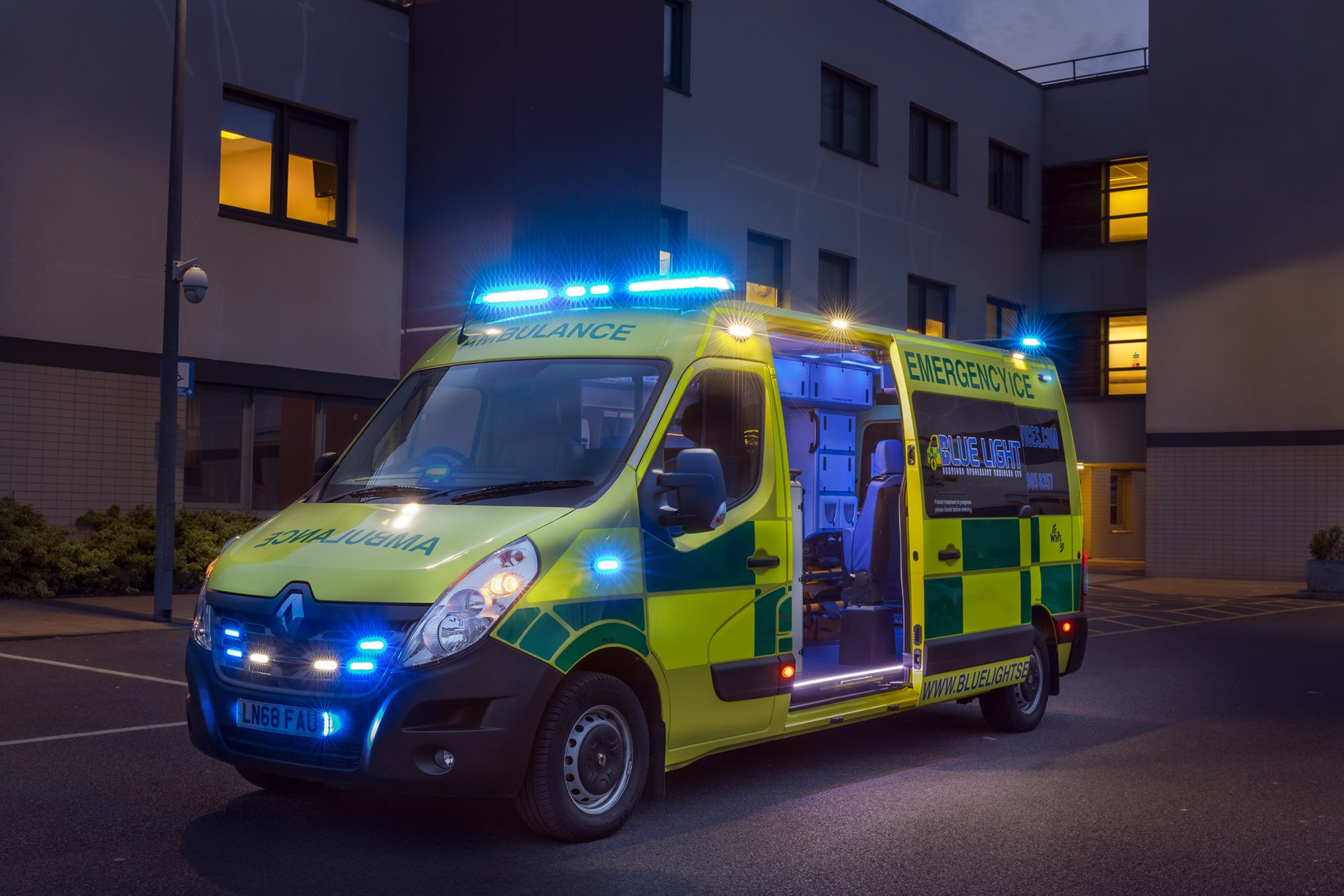 Ambulance livery, beacons and light bars