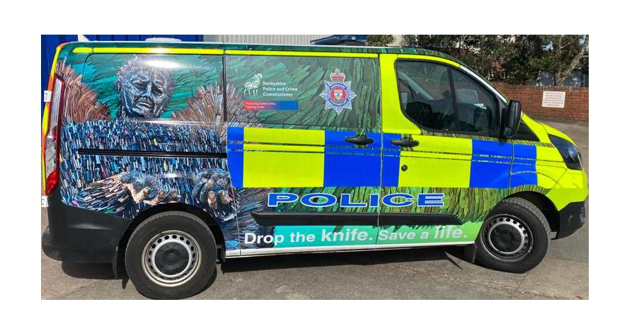 Police van livery - Derbyshire Constabulary