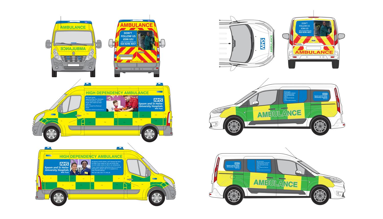 Ambulance livery proofs