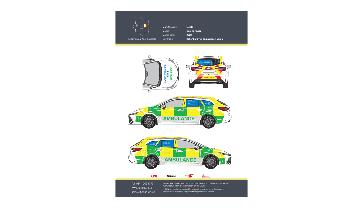 Ambulance livery proof Epsom and St Helier